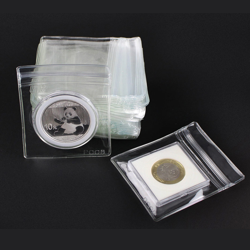 lot 10 pcs professinal coin sleeves label coin bag folding