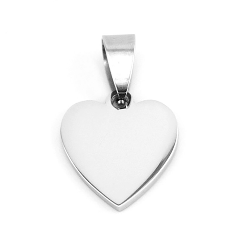 100 Stainless Steel Mini Heart Charm Pendant For Jewelry Making Blank Metal Tag Personalize Mirror Polished
