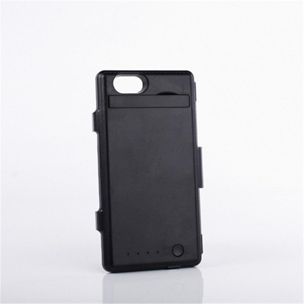 3500 mah Noir Batterie De Secours Chargeur Case Power Pack Couverture Capa Pour Sony Xperia Z1 Compact/Z1 mini (m51w) d5503 avec Support