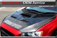 Car Styling Auto Accessories Carbon Fiber Hood Bonnet Fit For 2008 2012 Lancer Evolution X EVO X EVO 10 CS T2 Style Hood Bonnet