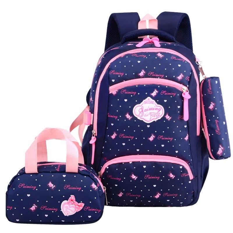 School Bags children For Teenagers girls Lightweight waterproof  orthopedics