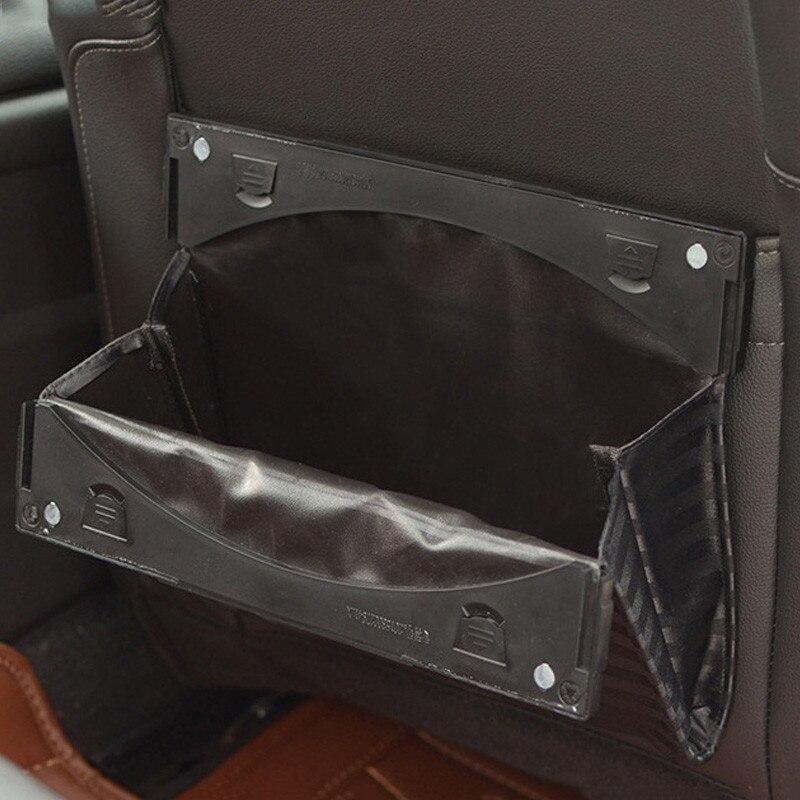 Car Seat Back Hanging Bag Foldable Car trash bag hanger Auto Trash Bin Garbage Dust Case Box Rubbish Dustbin