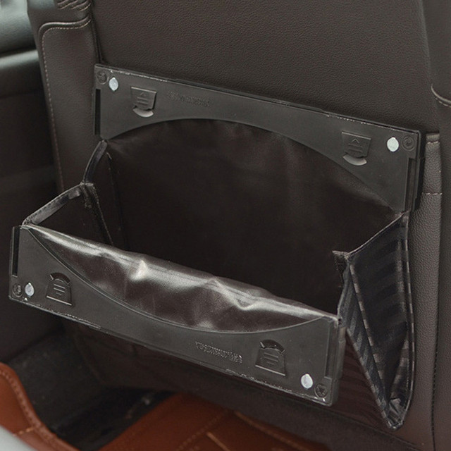 Car Seat Back Hanging Bag Foldable Trash Hanger Auto Bin Garbage Dust Case
