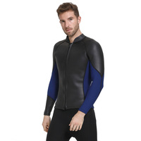 SBART New 2019 Male Separated Long Sleeve 3MM Wet Suit Waterproof Smooth Skin Open Cell Surfing Clothes Thermal Thick Swimwear