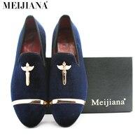 Luxury man shoes brand casual genuine gold loafers men cross velvet loafers men