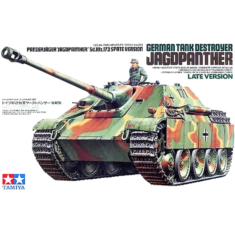 OHS Tamiya 35203 1/35 German Tank Destroyer Jagdpanther Sd Kfz 173 Late Version Assembly AFV Model Building Kits oh 1 35 assembly german sd kfz 250 9 a fire artillery armored vehicle 6882