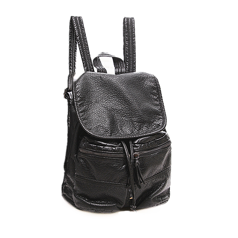 2018 New Genuine Leather Women Backpack Female Fashion Rucksack Brand Designer Ladies Back Bag High Quality School Bag Mochila new designer women backpack for teens girls preppy style school bag genuine leather backpack ladies high quality black rucksack
