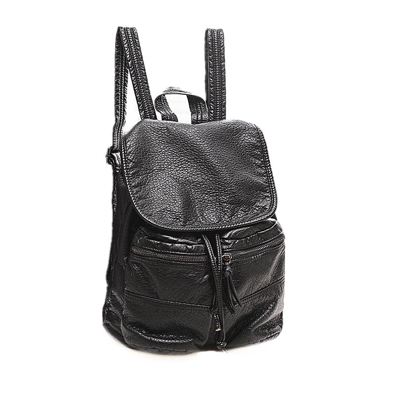 2018 New Genuine Leather Women Backpack Female Fashion Rucksack Brand Designer Ladies Back Bag High Quality School Bag Mochila