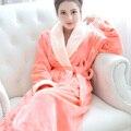 Горячие Продажи Розовые Халаты Пижамы Женщин Сгущает Ватки Коралла Халаты Ночная Рубашка Сексуальная Халат Пижамы Костюм Ночной Рубашке Ночное Белье Дамы