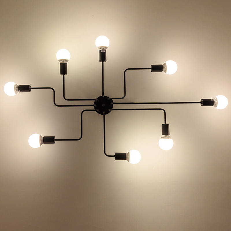 HTB1hvwqXcuYBuNkSmRyq6AA3pXaq Oygroup Vintage Ceiling Lights For Home Lighting Luminaire Multiple Rod Wrought Iron Ceiling Lamp E27 Bulb Living Room#CL06/CL08