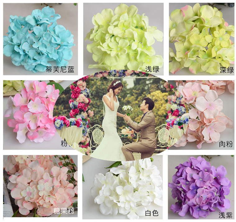 Aliexpress.com : Buy Wedding Artificial Hydrangea Silk Flower Table  Centerpieces Decorative Flower Wedding Arch Garland Decoration From  Reliable Flower ...
