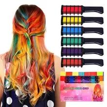 Combs-Kit Hair-Color Temporary Chalk Dyeing Halloween-Hair-Salon Fashion Cosplay 6pcs