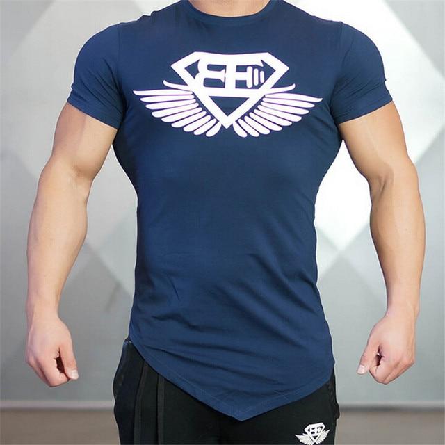 2016 Muscle Brothers Gymshark Men's T-shirt Slim Thin Modal Summer T Shirt Brand Fitness Bodybuilding Stringer