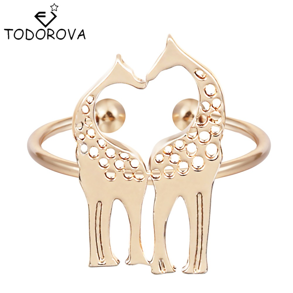 Todorova Gothic Men Gold Silver Giraffe Animal Rings For Women Wholesale  Valentine Day Gift Dropship Suppliers
