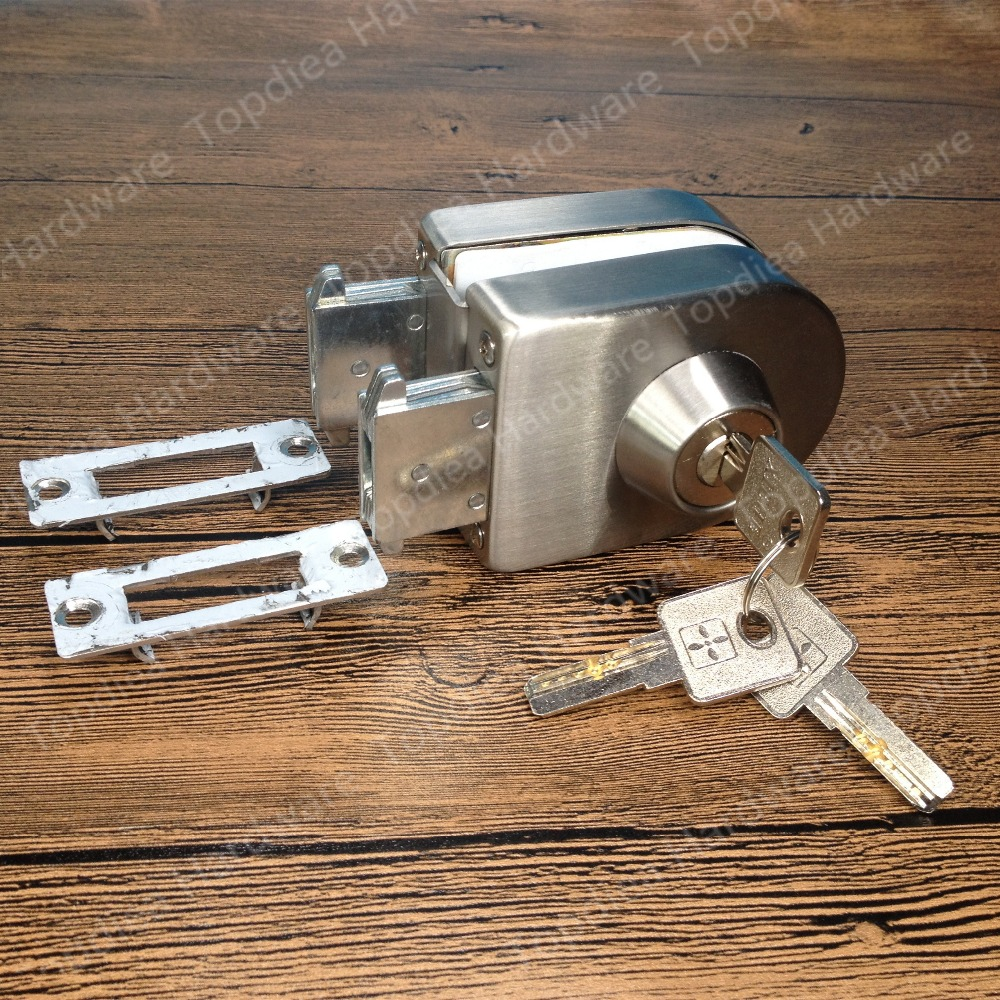 Entry gate 10-12mm Glass Swing Push Sliding Door Lock with Keys
