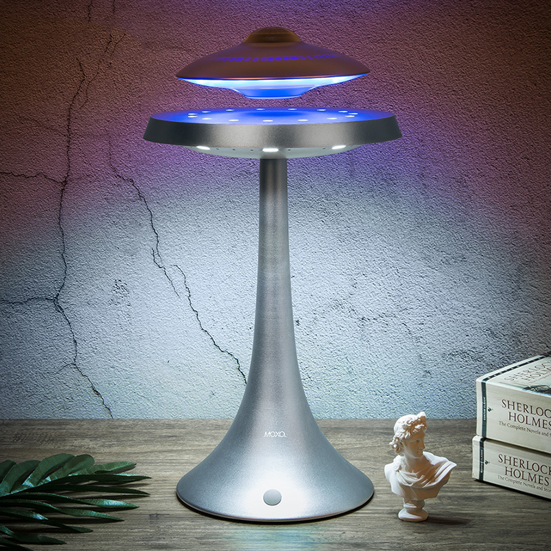 UFO Magnetic suspension wireless Levitating Bluetooth speaker Creative music colorful table lamp Y