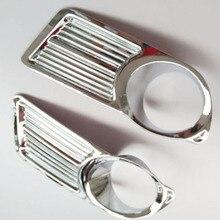 Подойдет российский для Nissan Almera G15 2012 2014 2015 передние противотуманные свет лампы Крышка отделка ABS Chrome автомобильные аксессуары Бесплатная доставка