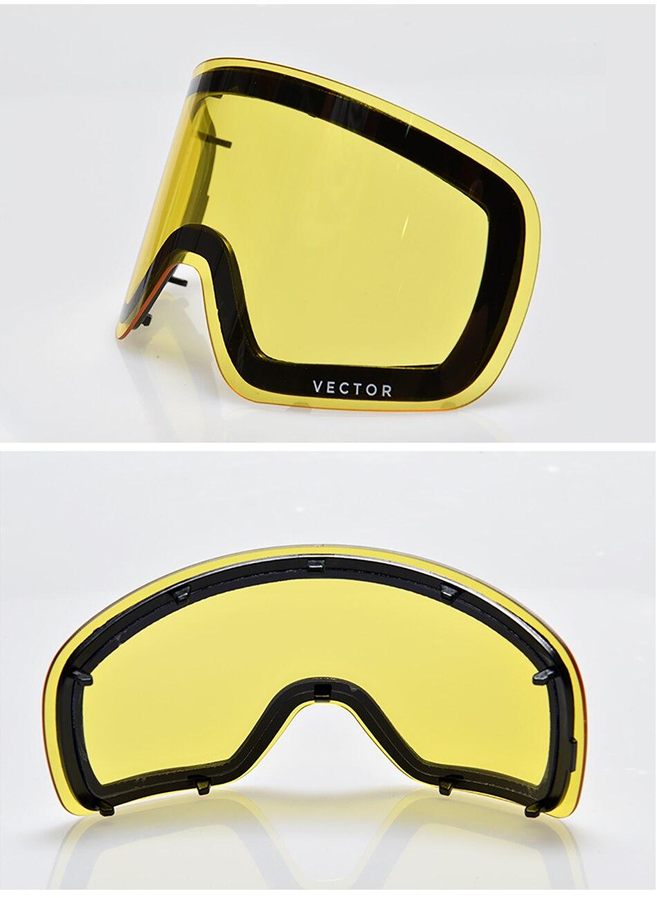 15a3504b3008a Esto sólo lente para gafas de esquí Hxj20011 Anti niebla ...