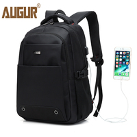AUGUR 2017 Fashion Backpack Multifunction USB Charging Men 16inch Laptop Backpacks For Teenage Mochila Leisure Travel