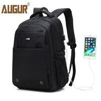 AUGUR 2017 Fashion Backpack Multifunction USB Charging Men 16inch Laptop Backpacks For Teenage Mochila Leisure Travel