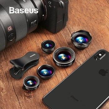 Baseus الهاتف عدسات عين السمكة عدسة + زاوية واسعة + 15X ماكرو عدسة الكاميرا ل فون X XS سامسونج Xiaomi هواوي عدسات تكبير Selfie عدسة