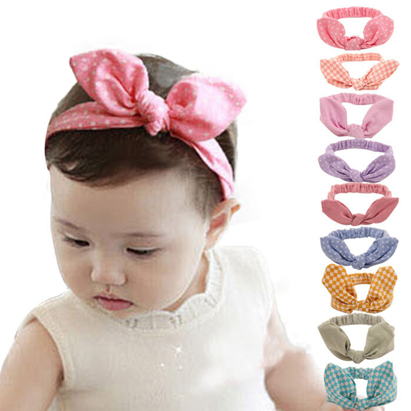 Cute Infant Girls Kids Flower Knot Baby Headband Turban Hair Band Headwear 1Pc