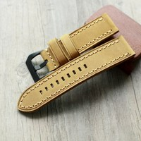 High end 20 22 23 24 26mm Thick line Watchbands retro Calf Leather Watch band Watch Strap with Genuine Leather Straps for PAM