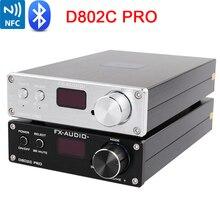 FX אודיו D802C פרו אלחוטי Bluetooth 4.2 תמיכה APTX NFC USB/AUX/אופטי/קואקסיאלי טהור דיגיטלי אודיו מגבר 24Bit 192Khz