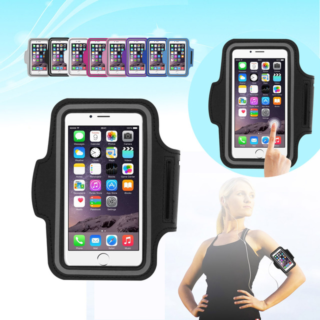 official photos fd7b0 9a3f8 US $2.51 29% OFF|Nylon Sport Armband for running smartphone Case Waterproof  5.5 inch Phone Bag with Armband for iPhone 5S/6/6 Plus Samsung S4/S5-in ...