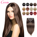 Natural Clip Ins Remy Hair Extensions 16 to 26 Inches Brown Straight 10 Pcs Set 100% Real Human Hair Extensions Clip Ins On Sale