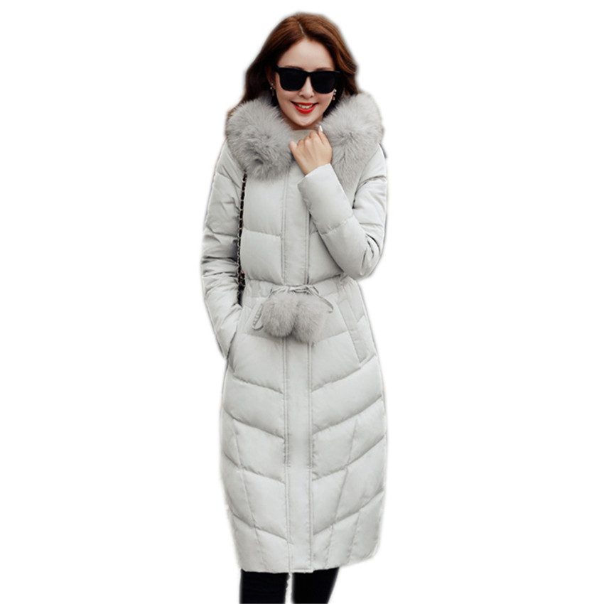 New Winter Women Long Thick   Down     Coat   Slim Plus Size   Down   Jacket Lady White Duck   Down   Jacket Hooded   Coats   Female Jackets WZ110