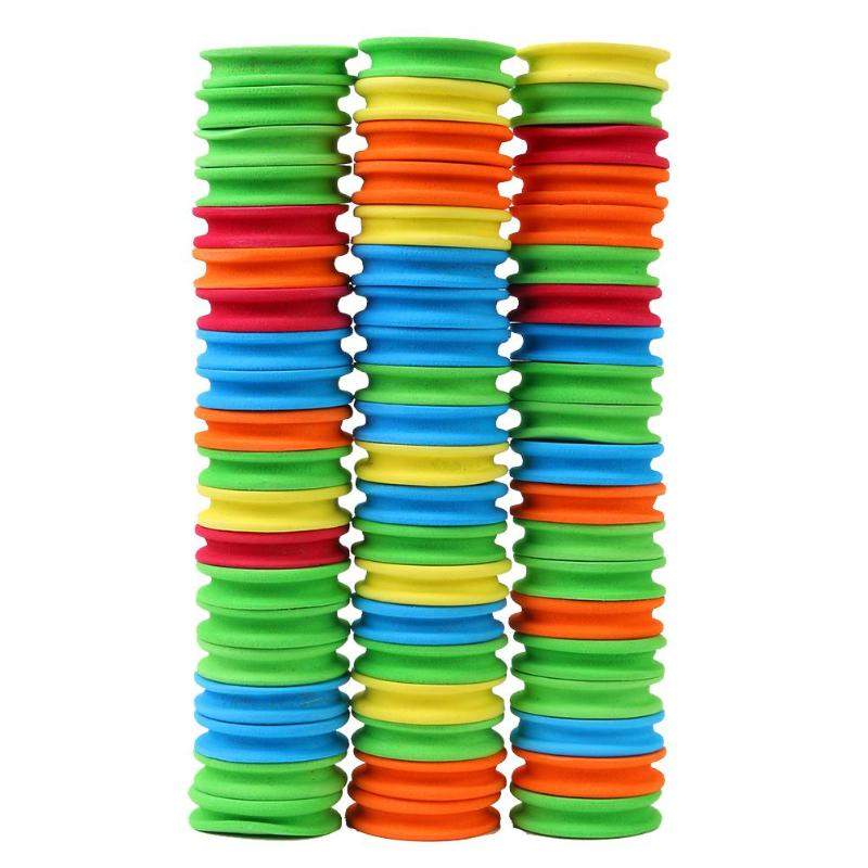 100pcs Winding Board Fishing Line Tackle Accessories Foam Board Trace Wire Swivel Tackle Fishing Box Tools 2019 New