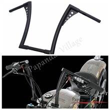 16 Rise 1-1/4 Motorcycle Drag Fat Bar APE Hanger Handlebar Z Bar For Harley Sportster XL Custom Softail Dyna Touring FLST FXST 18 rise 1 1 4 ape hanger handlebar for harley sportster xl 883 1200 flst fxst