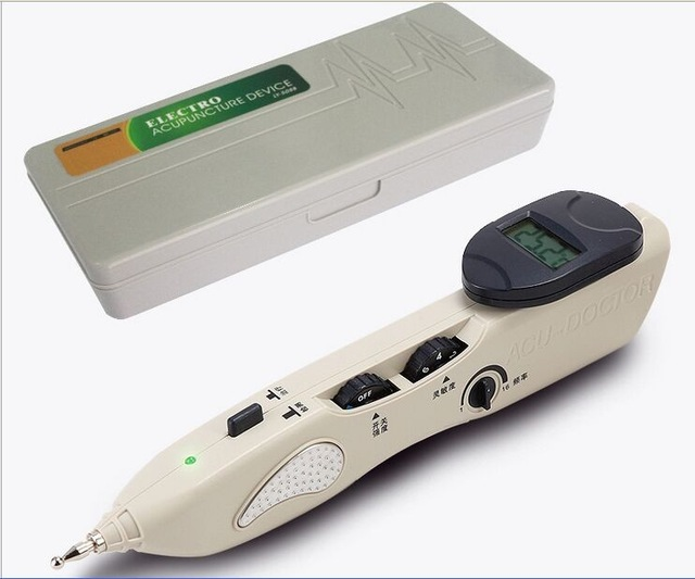 New Stimulator CE LCD Electronic Automatically Acupuncture Needle Pen Electro Acupuncture Device T.E.N.S. and Point Detector english spanish chinese version ly 508b detector lcd electronic acupuncture device needle auto find massage points stimulator