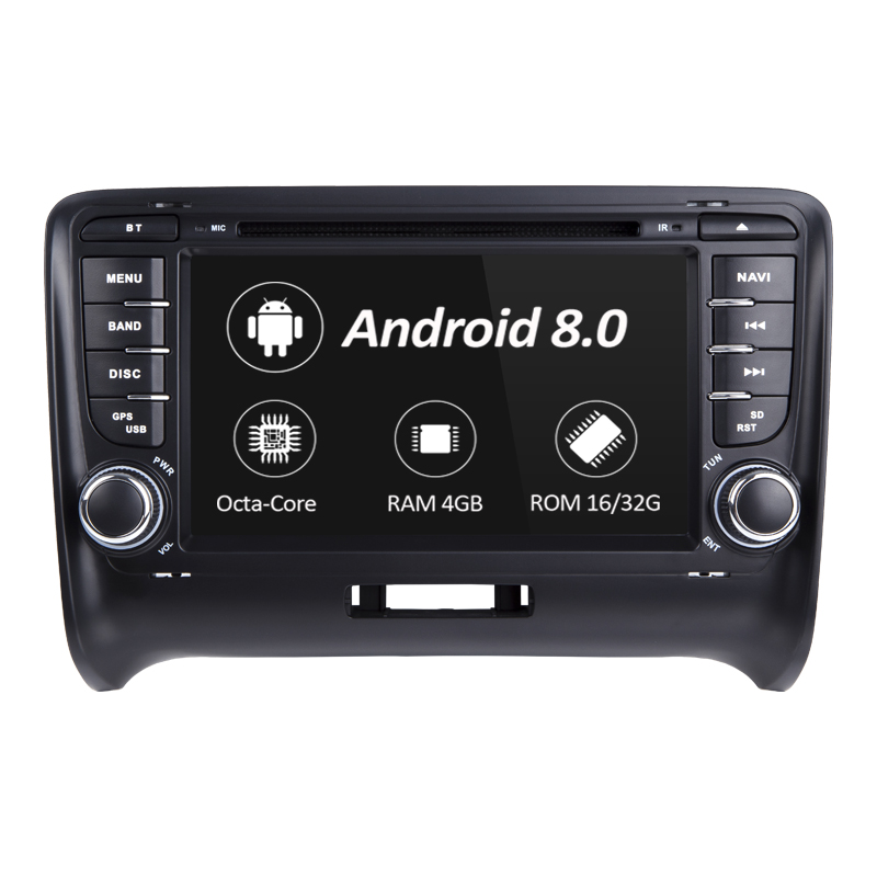 2 Din Android 8.0 lecteur DVD de voiture pour AUDI TT MK2 2012-2014 GPS Radio stéréo Wifi Navigation écran tactile multimédia 4G