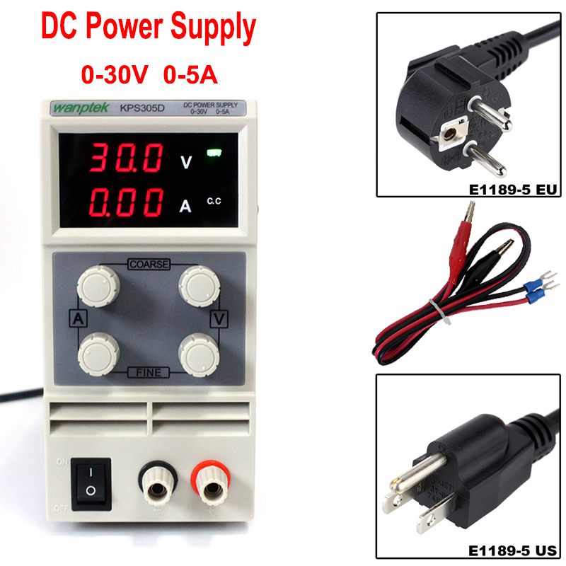 Voltage Regulators 30V 5A Switch laboratory DC power supply Digital Display adjustable Mini DC Power Supply Single Channel rps6005c 2 dc power supply 4 digital display high precision dc voltage supply 60v 5a linear power supply maintenance