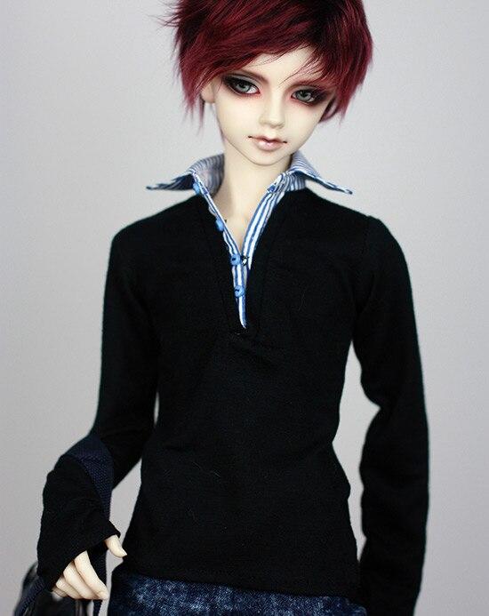 1/3 1/4  BJD SD Doll  accessories doll clothes black shirt 1 3 1 4 bjd doll funiture black chair