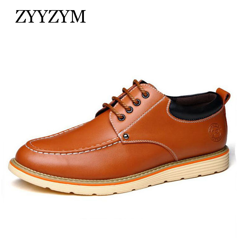 Hot Sale Casual Shoes Men Lace-up Style Spring/autumn youth Trend Of All-match Fashion Flat With Leather Shoe Man spring korean men flats shoes british fashion trend of small leather flat shoes tide dress shoes hot sale b1198