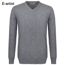 Men's Slim Fit Casual V-Neck Knitted Wool Pullover Sweaters Autumn Winter New Long Sleeve Tops Plus Size 5XL M03