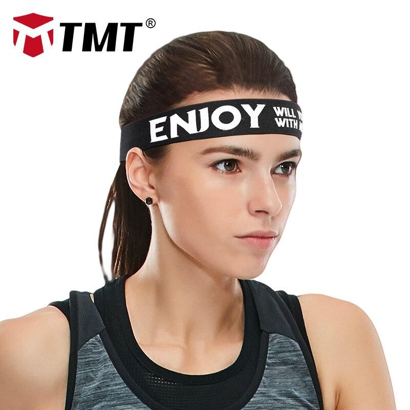 TMT Yoga Sweatband Hair Bands Sports Headband Anti-slip Women Men Elastic fitness Running Biking Headscarf Outdoor Sweatband