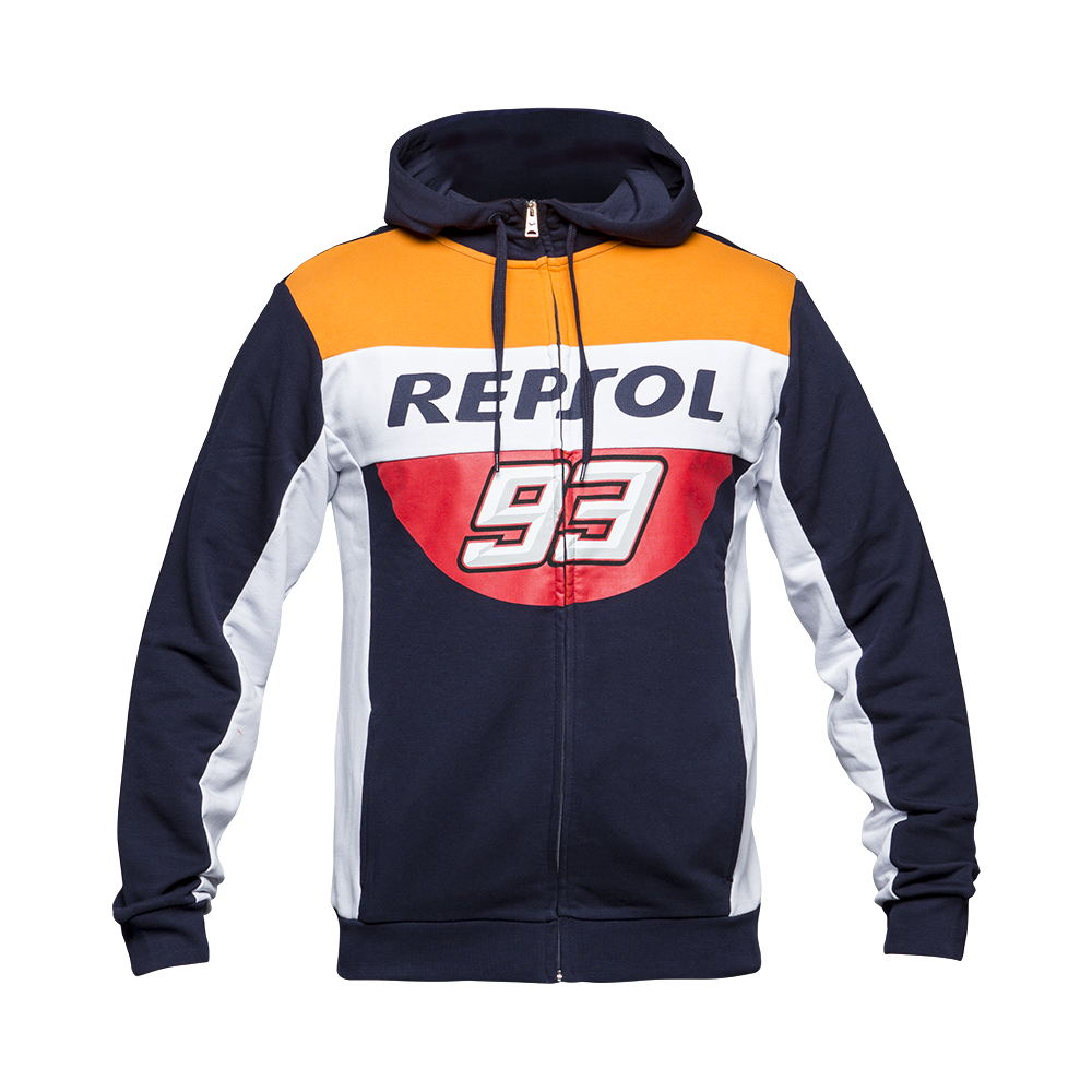 Marc Marquez 93 MM93 Repsol Zip Hoodie Moto GP Motorcycle Racing Sports Crew Fleece Sweatshirt