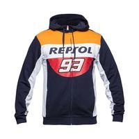 Marc Marquez 93 MM93 Repsol Zip Hoodie Moto GP Motorcycle Racing Sports Crew Fleece Sweatshirt