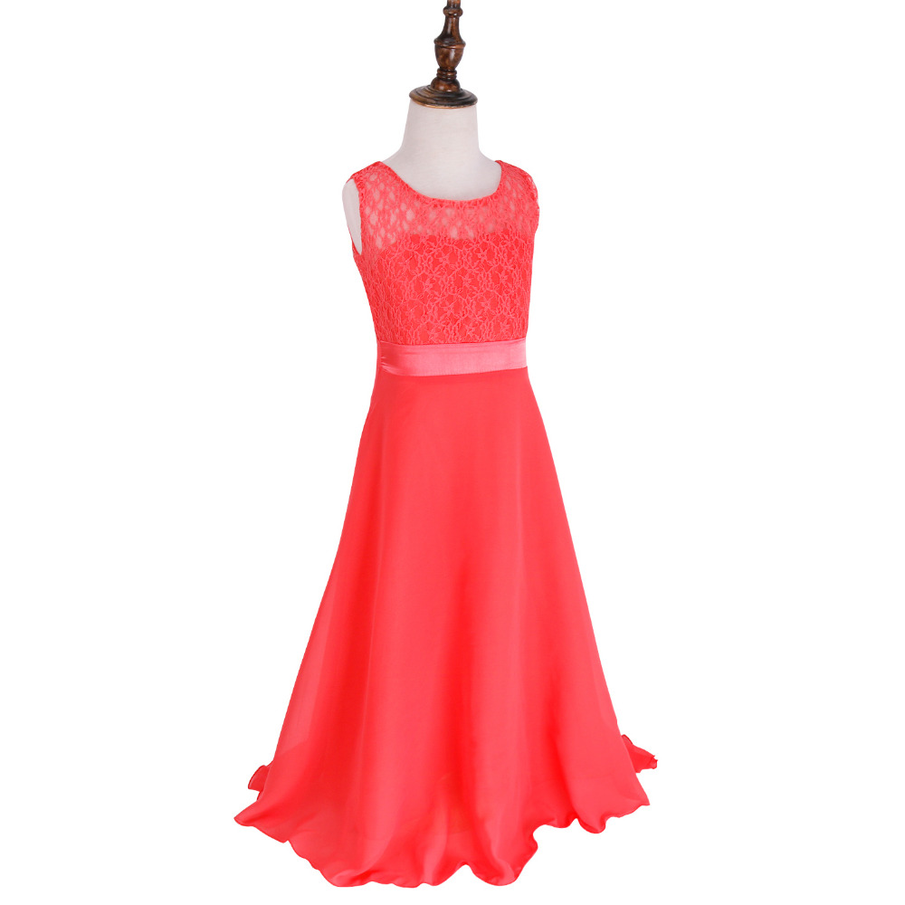 Teens Girl Lace Dress 2017 Fashion Girls Dresses Kids Clothes Wedding Party Children Evening Clothing Teenage Long Gown In From Mother