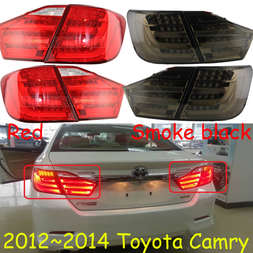 Image 4 - 2pcs Car Styling for Camry headlight 2012 2013 2014year Camry taillight DRL Bi Xenon Lens High Low Beam Parking FogCar Light Assembly   -