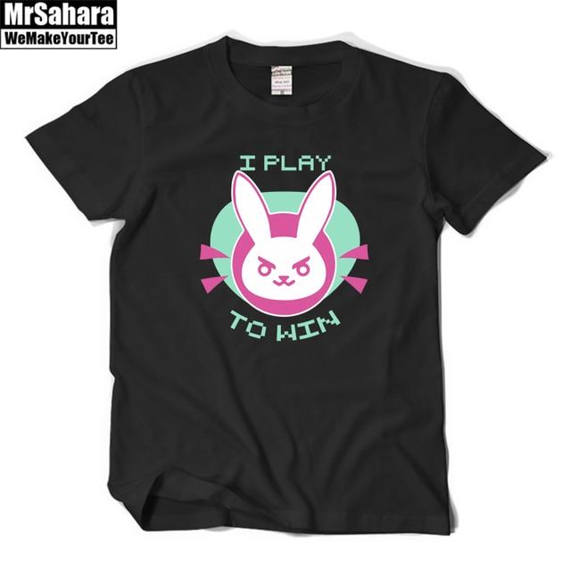 OW D. Va Camisas de T para Homens Mulheres Que Jogam Para Ganhar Impresso t-shirt Top Tee Camisa Bonita t camisa