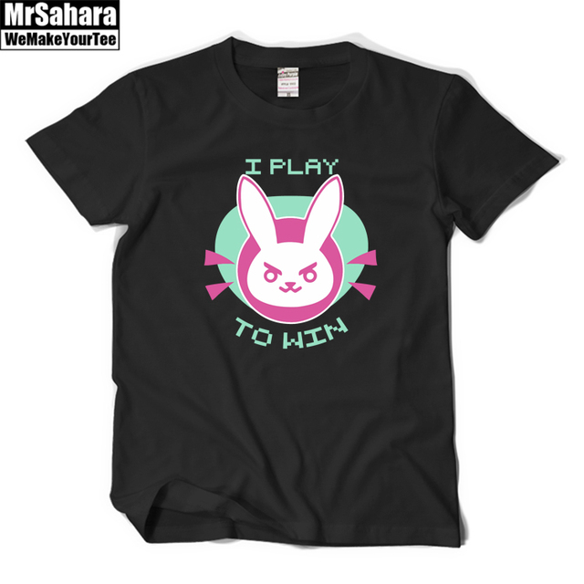 OW D.Va T Shirts for Men Women I Play To Win Printed t-shirt Top Tee Shirt Lovely t shirt