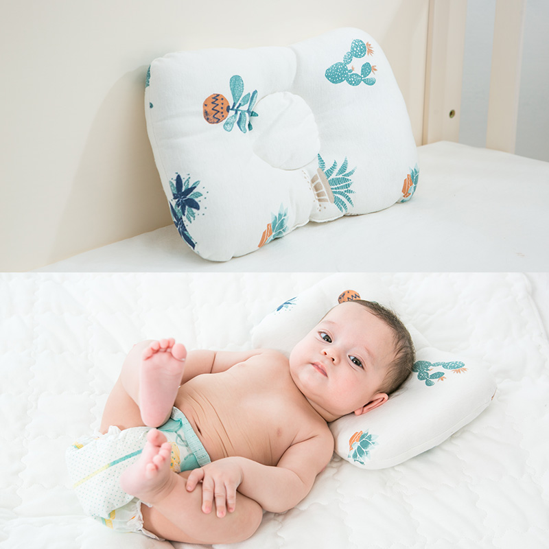Baby Pillow Newborn Head Protection Cushion Nursing Pillow Positioner Anti Roll