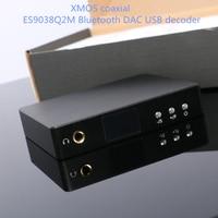 ES9038Q2M Bluetooth ЦАП 5,0 для XMOS коаксиальное оптоволокно Headphon усилители домашние/ЦАП dsd/usb декодер DAC звуковая карта usb декодер