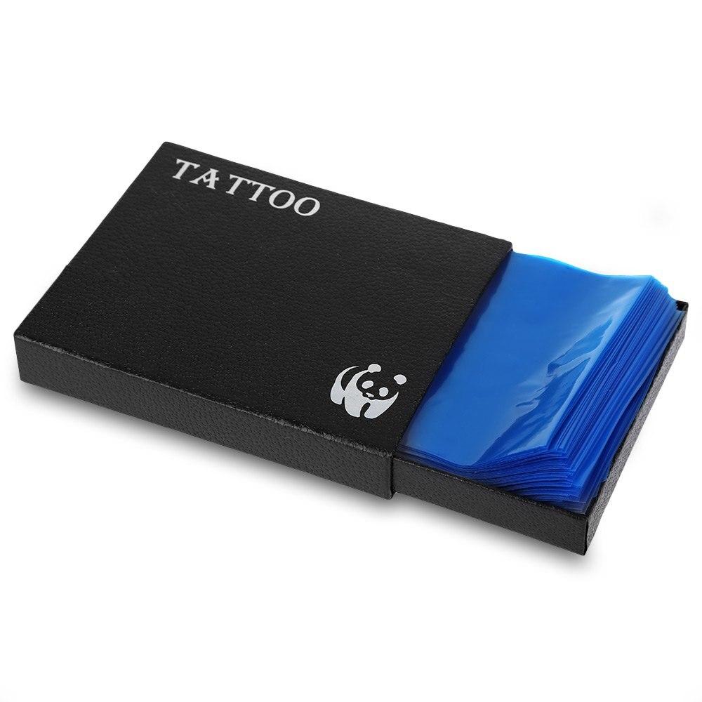 200 stk plast blå 2016 engangs tattoo maskin bagdeksel forsyning ny - Tatovering og kroppskunst - Bilde 3