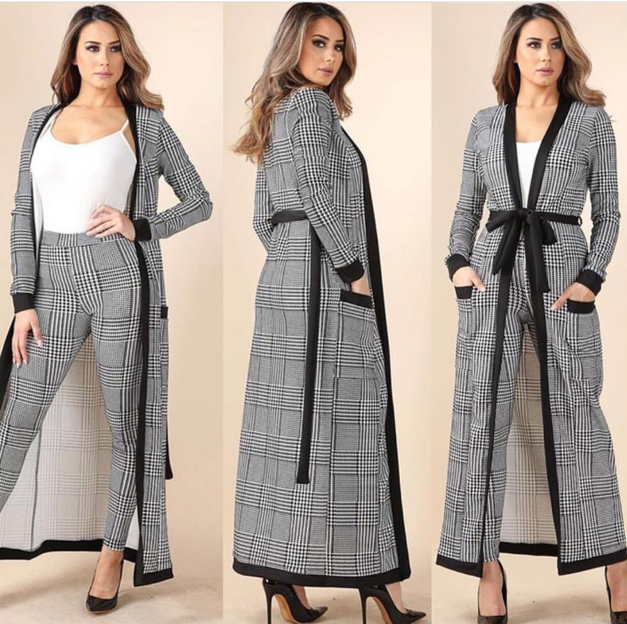 2018 New African Free Size Fashion Striped Wide-Legged Pants with Long Coat 3 Piece Bazin Suit Big Elastic For Lady